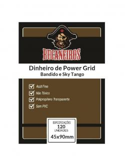 Sleeve Customizado: Dinheiro de Power Grid (45x90mm)