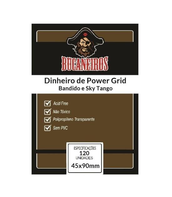 Sleeve Customizado: Dinheiro de Power Grid (45x90mm)