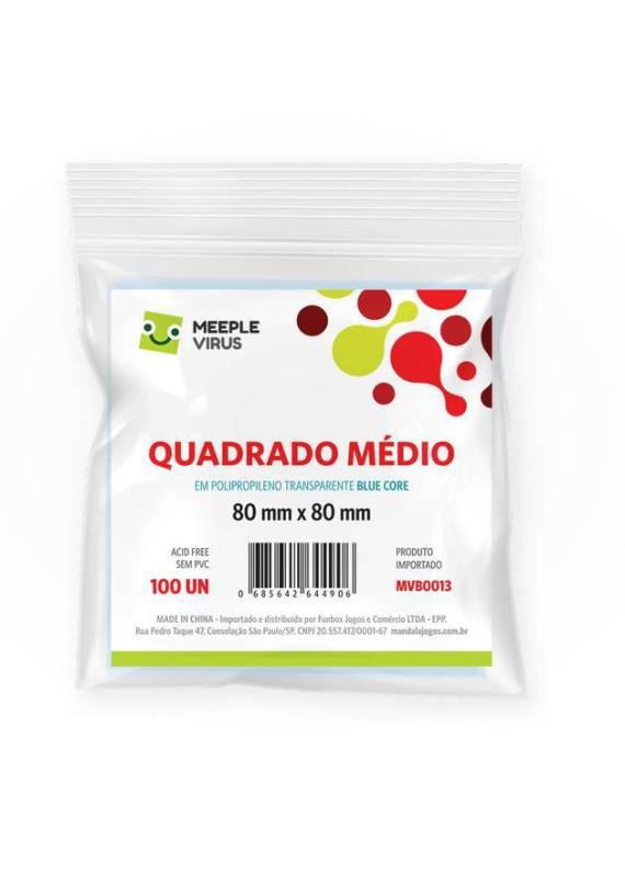 Sleeve Quadrado Médio (80x80mm) popup