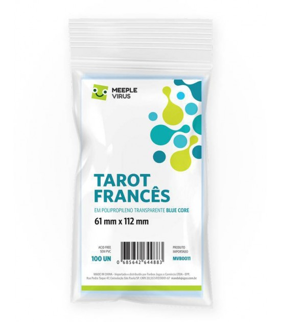 Sleeve Tarot Francês (61x112mm)